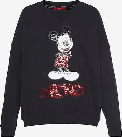 s.Oliver Sweatshirt in rot / schwarz / weiß, Produktansicht
