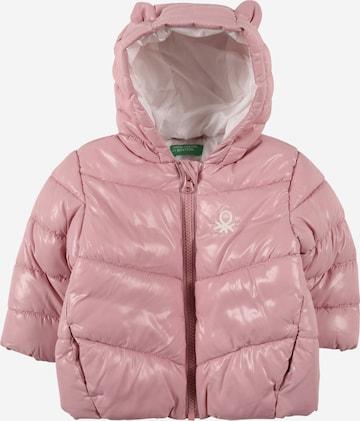 UNITED COLORS OF BENETTON Prechodná bunda - ružová