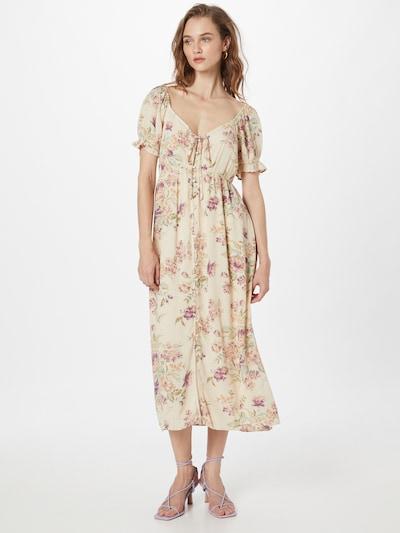American Eagle Kleid 'NOTEBOOK' in creme / mischfarben, Modelansicht