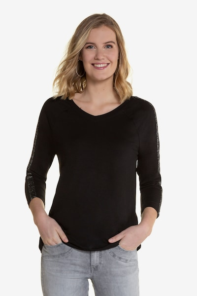 Gina Laura Shirt in schwarz: Frontalansicht