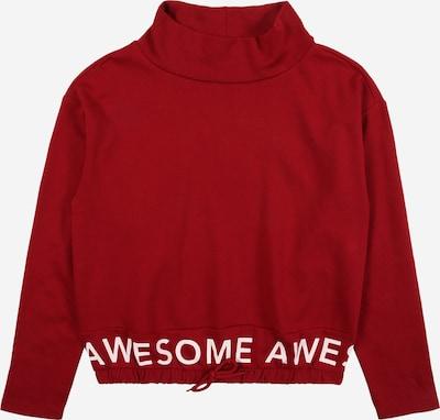 KIDS ONLY Sweatshirt 'KONLAUREN' in dunkelrot / weiß, Produktansicht