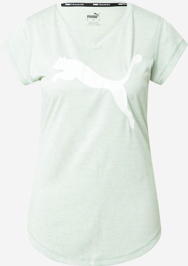 PUMA Funktionsshirt in grünmeliert / weiß, Produktansicht