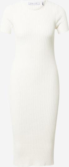 Megzta suknelė iš NU-IN, spalva – balta, Prekių apžvalga