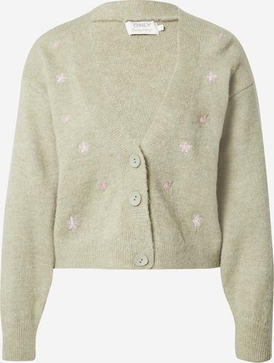 ONLY Strickjacke 'Annie' in pastellgrün / pink, Produktansicht