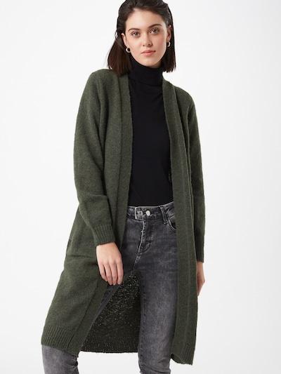 JACQUELINE de YONG Strickjacke 'Firez' in dunkelgrün, Modelansicht