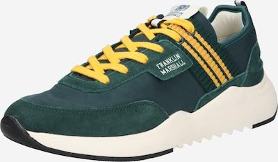 FRANKLIN & MARSHALL Baskets basses 'ALPHA' en jaune / vert gazon / blanc, Vue avec produit