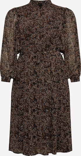 Selected Femme Curve Jurk 'SANTI-INGER' in de kleur Beige / Zwart / Wit, Productweergave