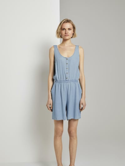 TOM TAILOR DENIM Jumpsuit in de kleur Lichtblauw, Modelweergave