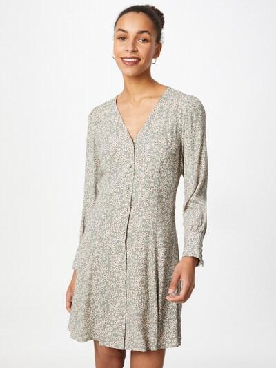 Y.A.S Kleid in rauchgrau / weiß, Modelansicht