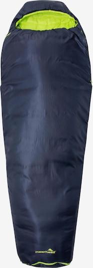 moorhead Kunstfaserschlafsack 'Arctic' in blau / neongelb, Produktansicht