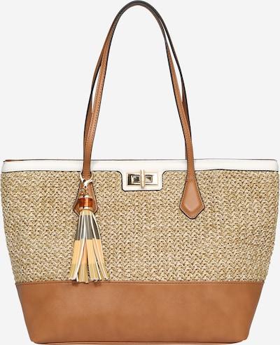 sötét bézs / bézs melír / fehér ALDO Shopper táska 'ASTINIEL', Termék nézet