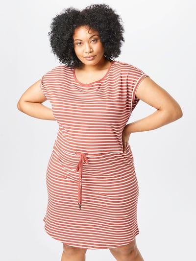 ONLY Carmakoma Kleid 'April' in weinrot / weiß, Modelansicht