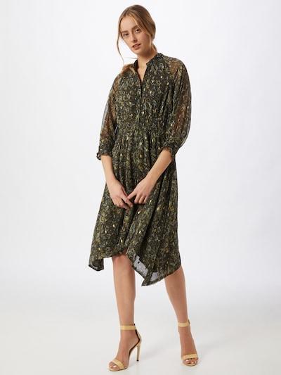 Y.A.S Kleid 'Blooma' in dunkelgrün / mischfarben, Modelansicht