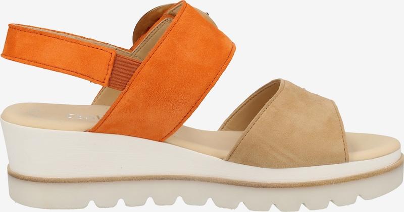 GABOR Sandalen met riem in Beige / Sinaasappel tosdvl3w