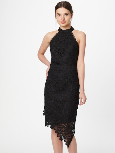 Lipsy Koktejl obleka | črna barva, Prikaz modela