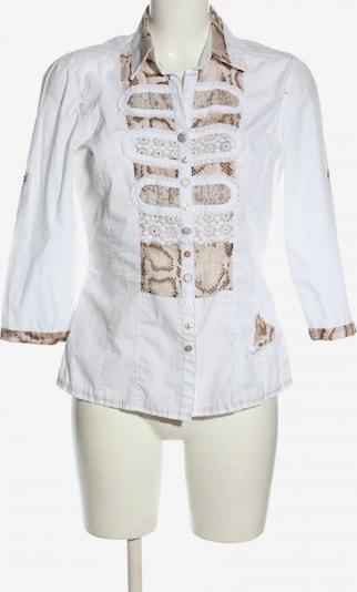 Just White Hemd-Bluse in XS in braun / hellgrau / weiß, Produktansicht