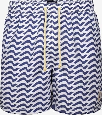 Scalpers Shorts de bain en bleu marine / blanc, Vue avec produit