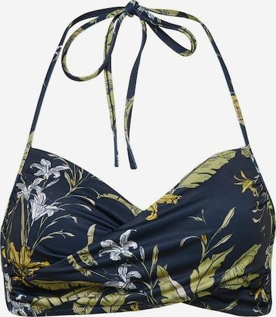 ONLY Bikini-Top in dunkelblau / gelb: Frontalansicht