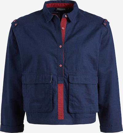 khujo Bluse 'BILDA' in blau / rot, Produktansicht