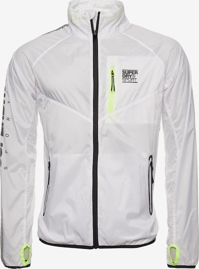 Superdry Sportjas 'TRAINING LIGHTWEIGHT JACKET' in de kleur Wit, Productweergave