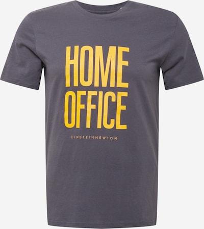 Tricou 'Home Office' EINSTEIN & NEWTON pe albastru porumbel / galben, Vizualizare produs