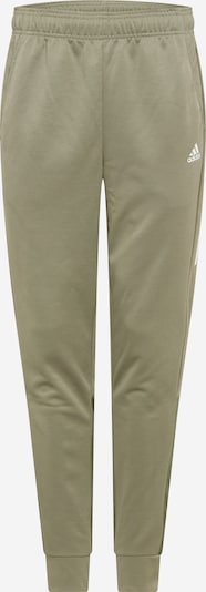 Sportinės kelnės 'Aero' iš ADIDAS PERFORMANCE , spalva - alyvuogių spalva / balta, Prekių apžvalga