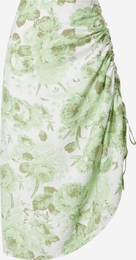 Gina Tricot Rock 'Maj' in oliv / hellgrün / weiß, Produktansicht