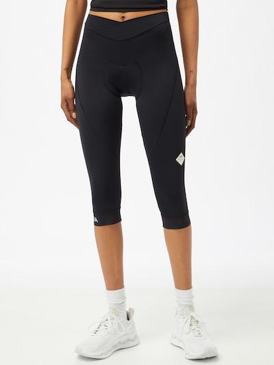 Maloja Sporthose 'Minor' in schwarz / weiß: Frontalansicht