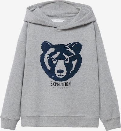 MANGO KIDS Sweatshirt 'Oso' in graumeliert / schwarz, Produktansicht