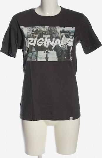 JACK & JONES T-Shirt in S in hellgrau / weiß, Produktansicht