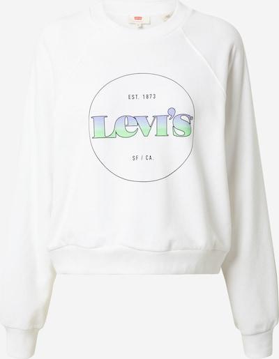 LEVI'S Sweatshirt in hellblau / hellgrün / schwarz / weiß, Produktansicht