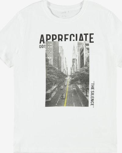 LMTD Тениска 'Bom' в жълто / сиво / черно / бяло, Преглед на продукта