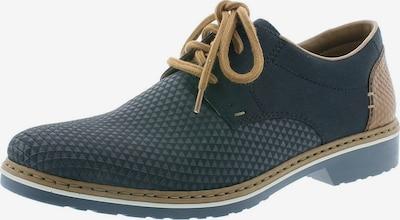 RIEKER Šnurovacie topánky - modrosivá / karamelová, Produkt