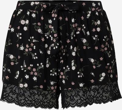 Hunkemöller Pyjamashorts 'Ditzy Flower' in dunkelgrün / rosa / schwarz / weiß, Produktansicht