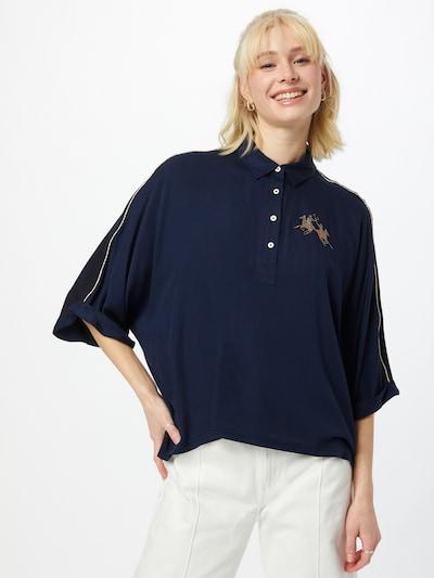 La Martina Blouse in de kleur Navy / Goud, Modelweergave