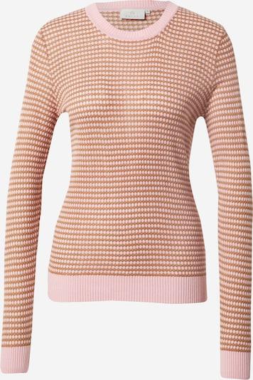 Kaffe Sweter 'Lulu' w kolorze brązowy / różowy pudrowym, Podgląd produktu