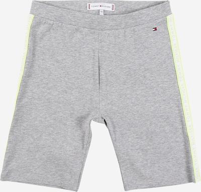 TOMMY HILFIGER Shorts in neongelb / graumeliert / weiß, Produktansicht