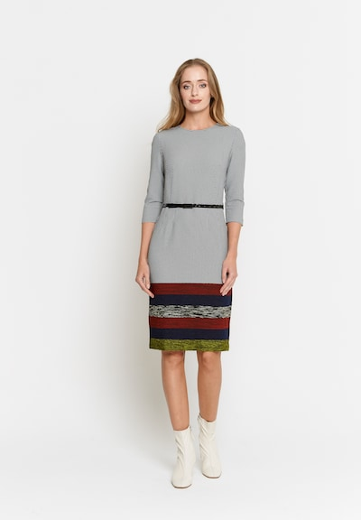 Madam-T Kleid 'Tropicana' in grau / rot, Modelansicht