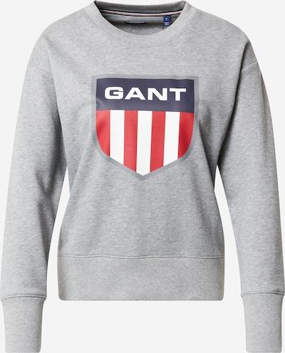 tengerészkék / szürke melír / piros / fehér GANT Tréning póló, Termék nézet