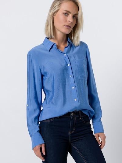 zero Bluse in blau, Modelansicht