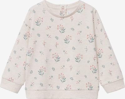 MANGO KIDS Sweatshirt 'FLORAS' in de kleur Beige gemêleerd / Groen / Rood, Productweergave