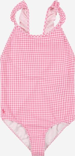 POLO RALPH LAUREN Badeanzug 'GINGHAM' in pink / weiß, Produktansicht