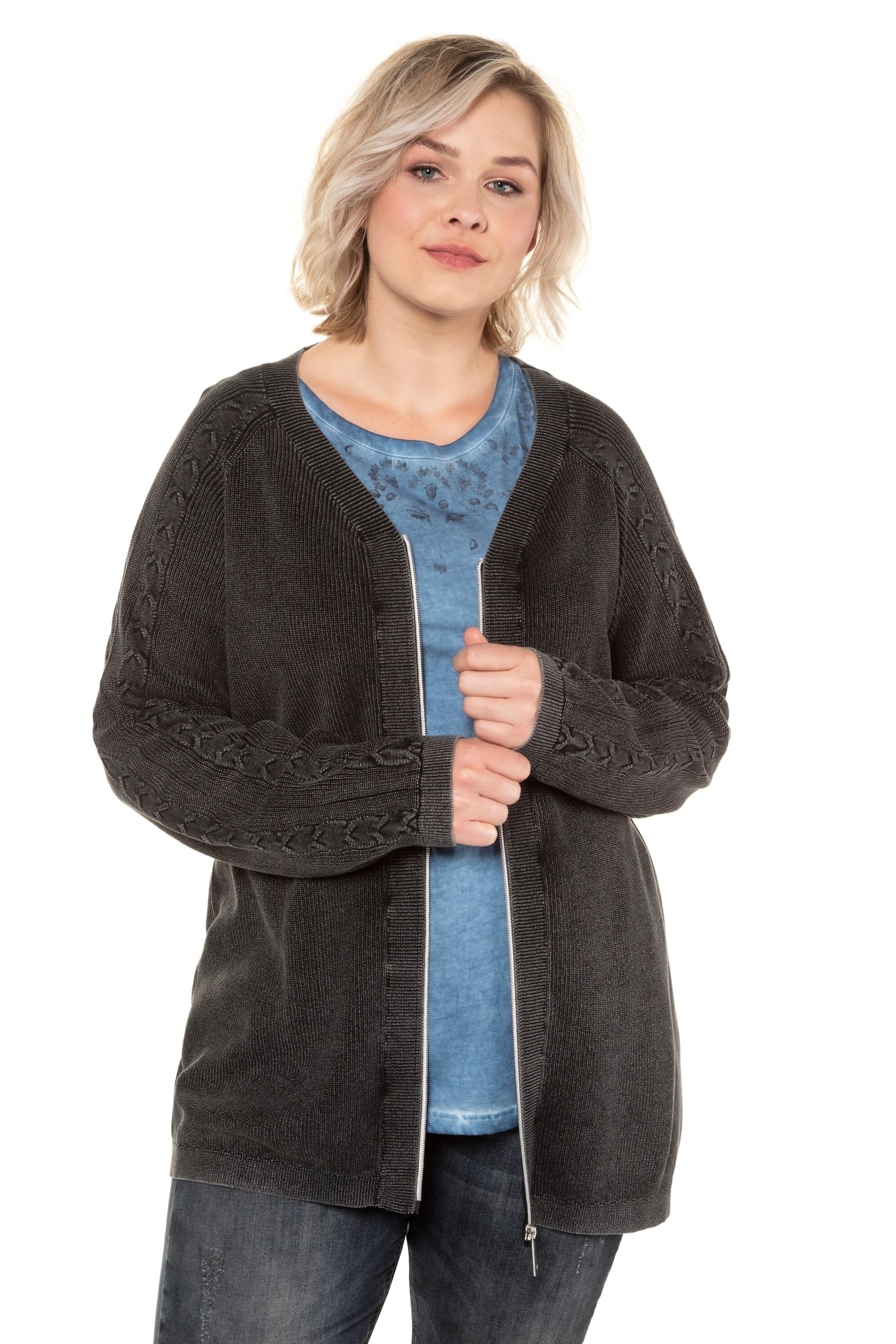 Ulla Popken Strickjacke in schwarz