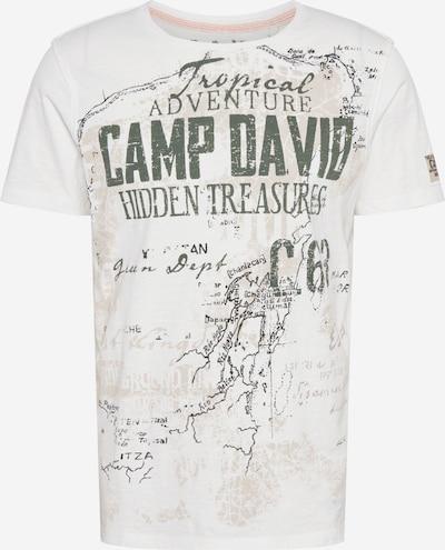 CAMP DAVID T-Shirt in schlammfarben / hellgrau / khaki / weiß, Produktansicht