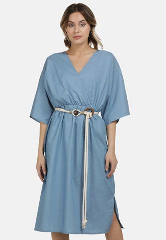 DreiMaster Vintage Summer Dress in Blue