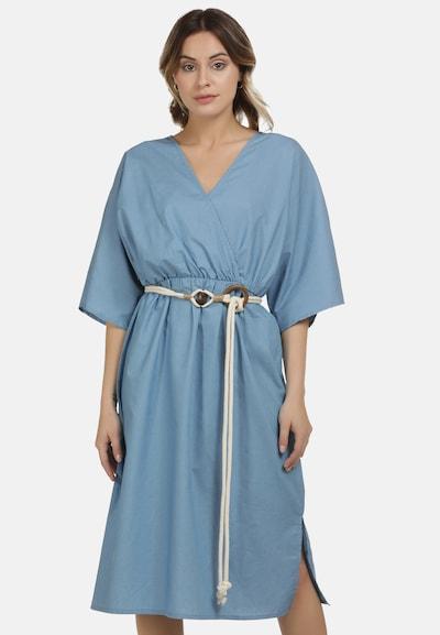 DreiMaster Vintage Kleid in blue denim, Modelansicht
