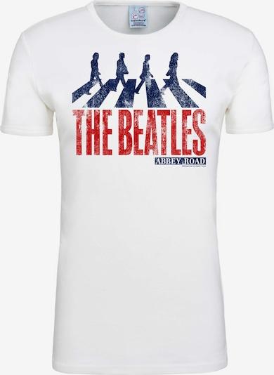 LOGOSHIRT T-Shirt 'The Beatles - Abbey Road' in weiß, Produktansicht