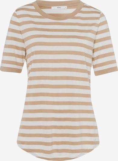 BRAX Shirt in hellbraun / weiß, Produktansicht