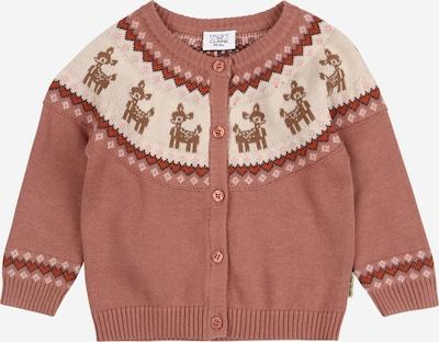 Hust & Claire Gebreid vest 'Charme' in de kleur Lichtbruin / Gemengde kleuren / Donkeroranje / Rosé / Wit, Productweergave