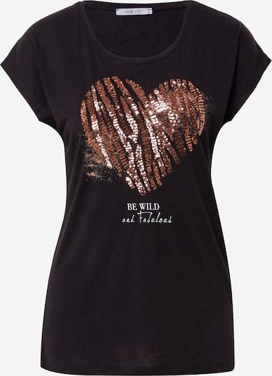 Hailys T-Shirt 'Elfie' in bronze / schwarz, Produktansicht
